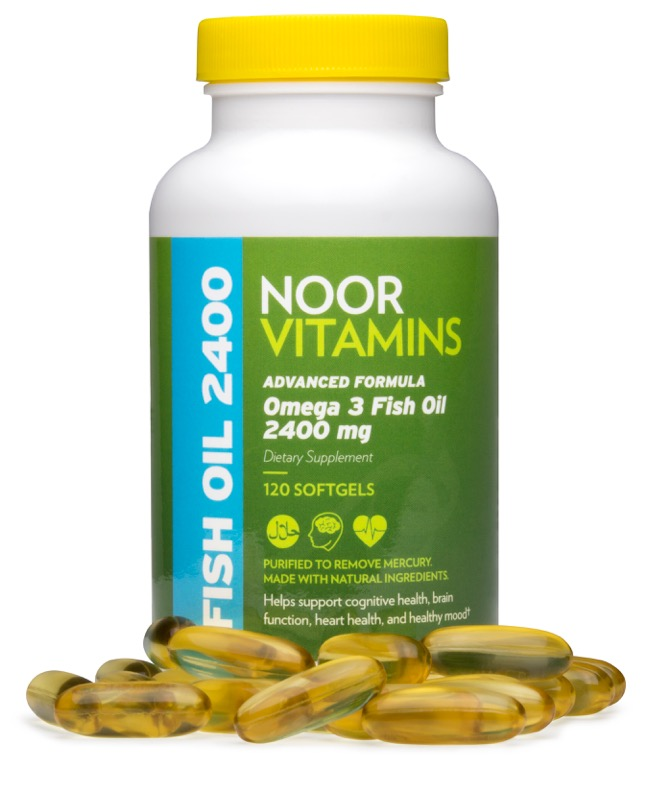 Omega-3 Fish Oil with pills